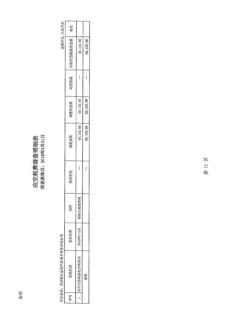 农产品:天津海吉星农产品电子商务有限公司清产核资专项审计报告